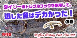 ダイ○ーのトレブルフックを使用して。逃した魚はデカかった!の巻【釣行記】
