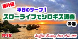 【番外編】平日のサーフ!スローライフでシロギス調査!の巻【釣行記】