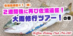 佐渡島遠征#1(再)2週間後に再び佐渡遠征!大雨修行ツアー!の巻【釣行記】